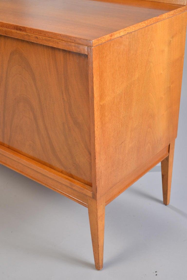 Midcentury English Walnut Sideboard For Sale 1