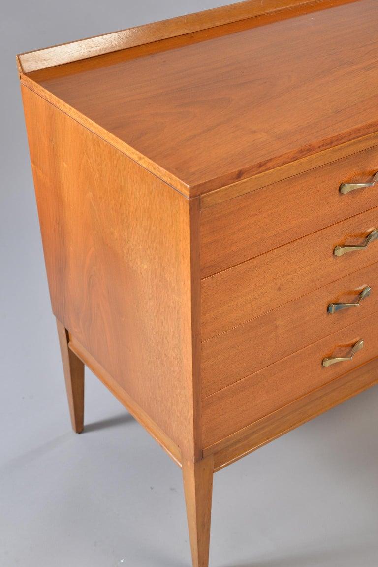 Midcentury English Walnut Sideboard For Sale 2