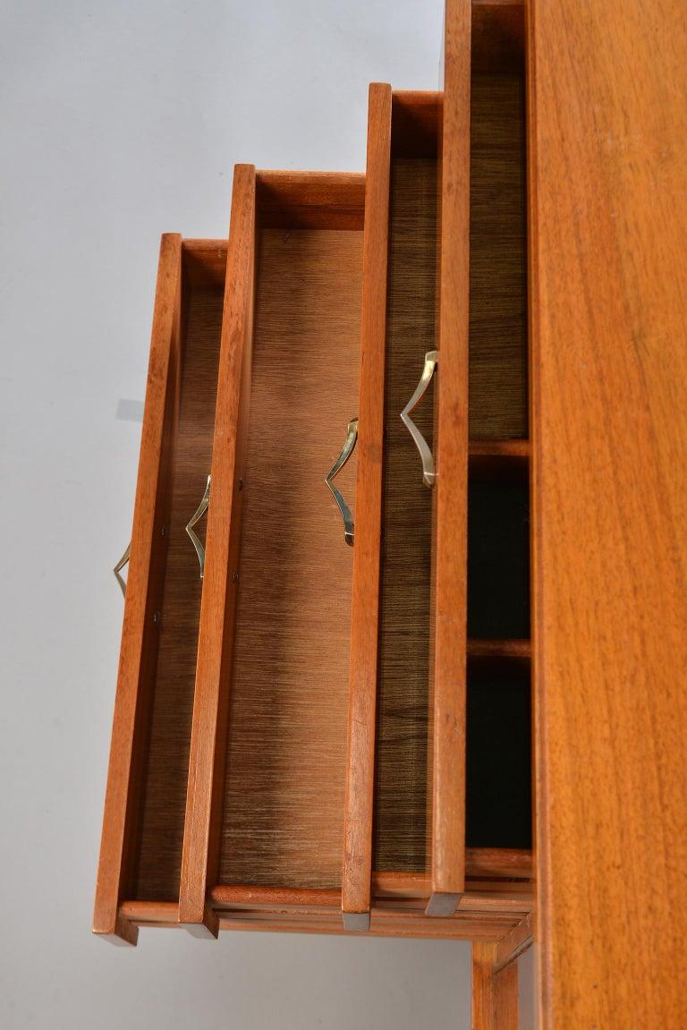 Midcentury English Walnut Sideboard For Sale 3