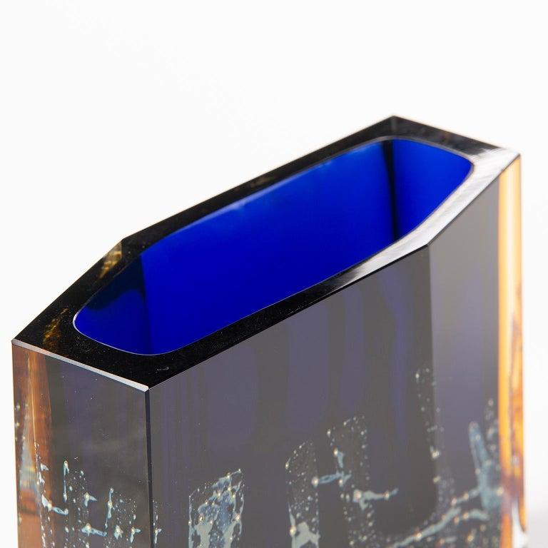 Pavel Hlava Egerman Exbor Czech Glass Vase For Sale 1