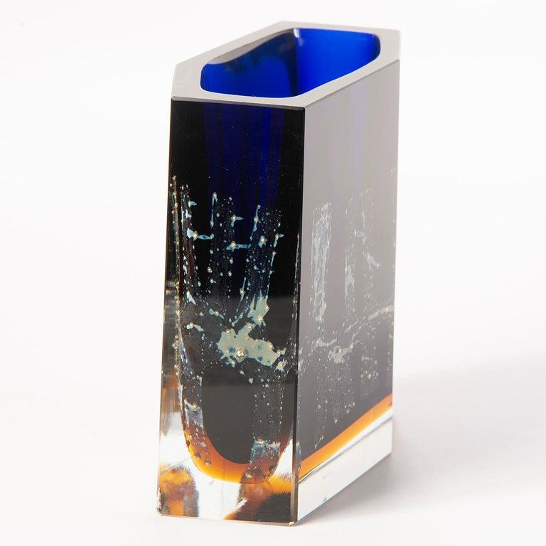 Pavel Hlava Egerman Exbor Czech Glass Vase For Sale 3