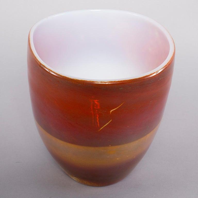 Ermanno Nason for Antonio da Ros Opaline Murano Glass Bowl In Excellent Condition For Sale In Troy, MI