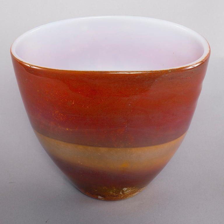 Ermanno Nason for Antonio da Ros Opaline Murano Glass Bowl For Sale 2
