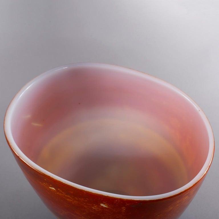 Ermanno Nason for Antonio da Ros Opaline Murano Glass Bowl For Sale 3