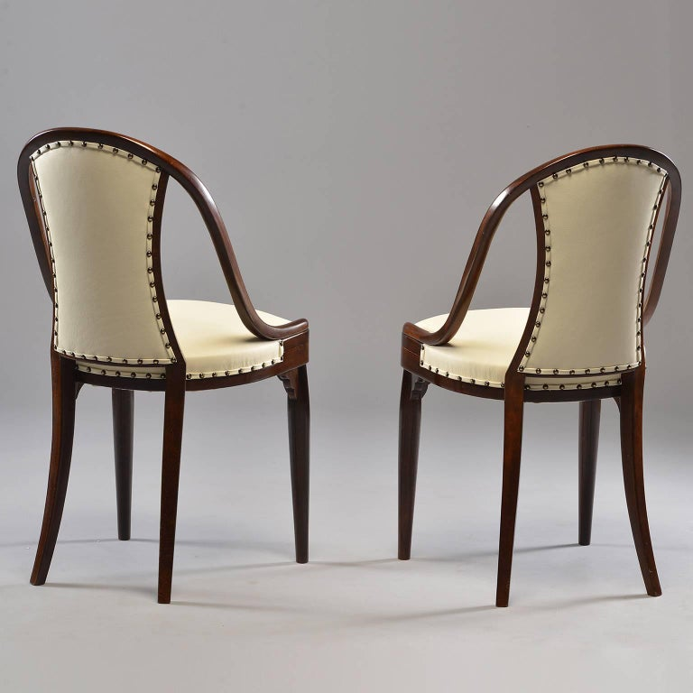 20th Century Six Otto Prutscher for Thonet Bentwood Armchairs with New Leather Upholstery For Sale