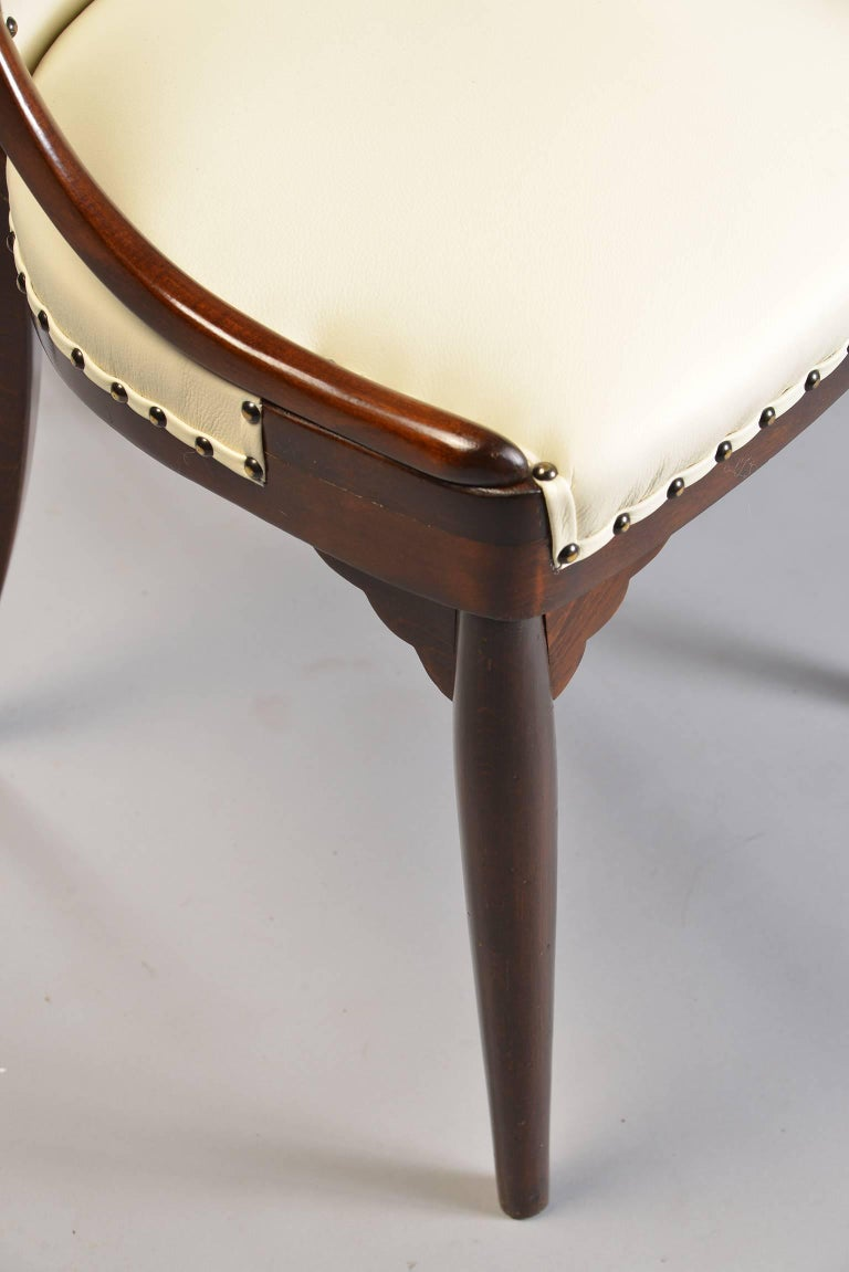 Six Otto Prutscher for Thonet Bentwood Armchairs with New Leather Upholstery For Sale 2
