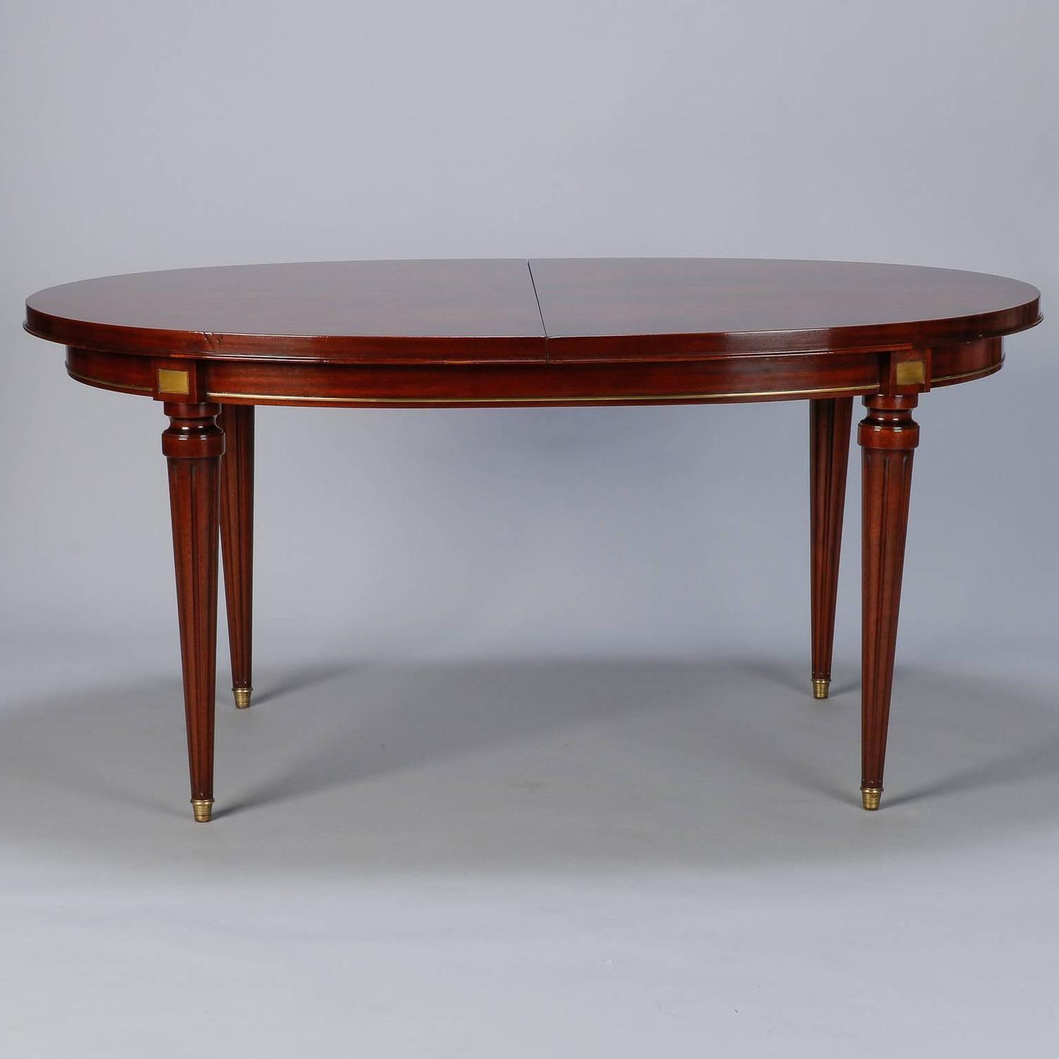 French mahogany louis philippe table with butterfly leaf for Table louis philippe