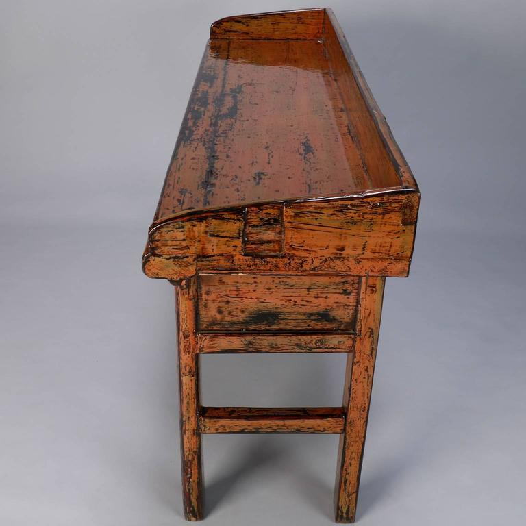 20th Century Chinese Painted and Lacquered Three-Drawer Console For Sale