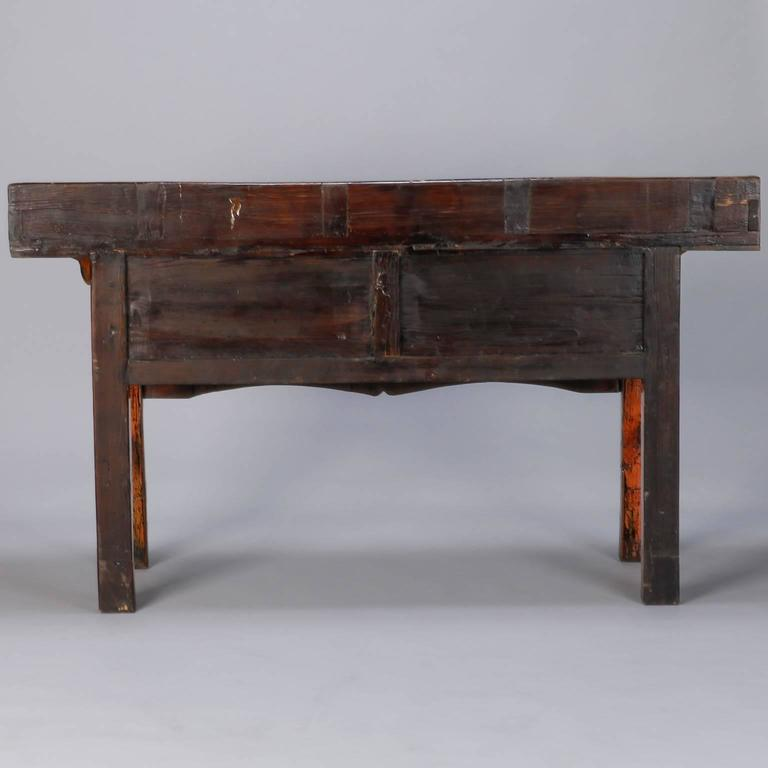 Chinese Painted and Lacquered Three-Drawer Console For Sale 2