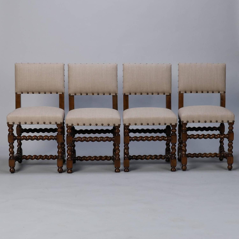 set of six spanish barley twist chairs at 1stdibs