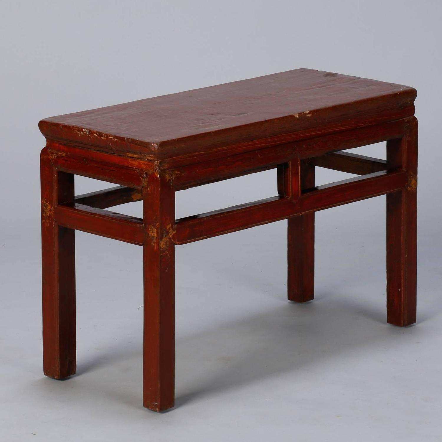 Early 20th Century Small Chinese Wood Bench or Small Table ...