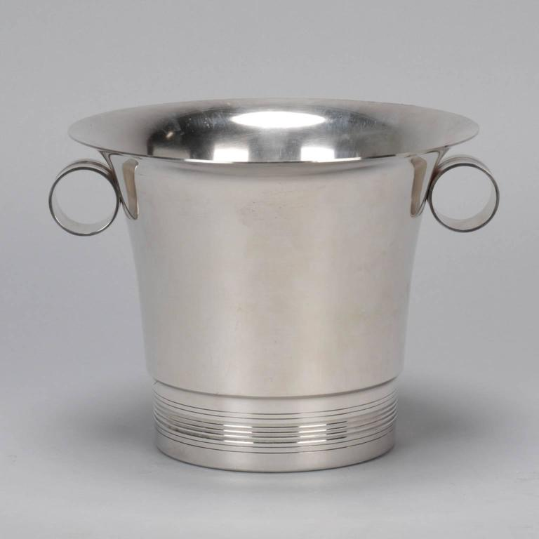 European Silver Plate Wine Cooler For Sale