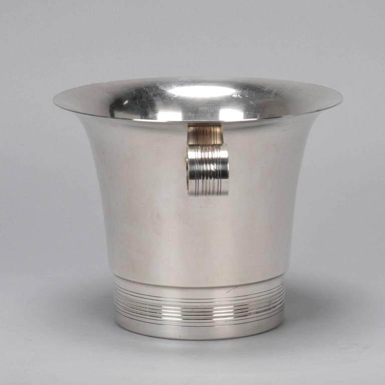 Silver Plate Wine Cooler In Excellent Condition For Sale In Troy, MI