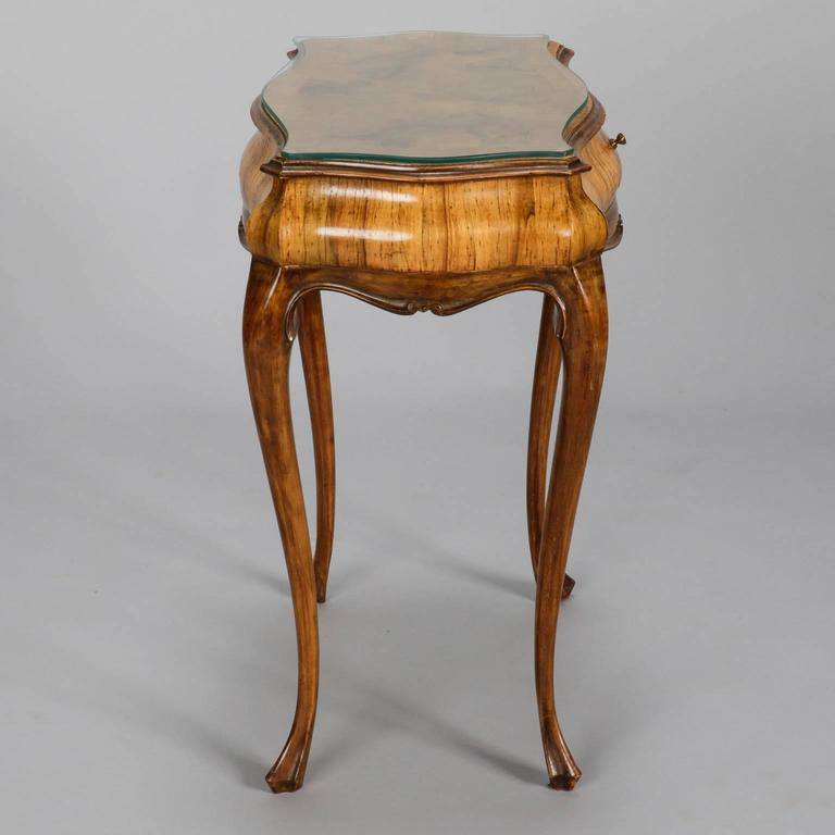 19th Century Italian Olive Wood Side Table Or Nightstand 3
