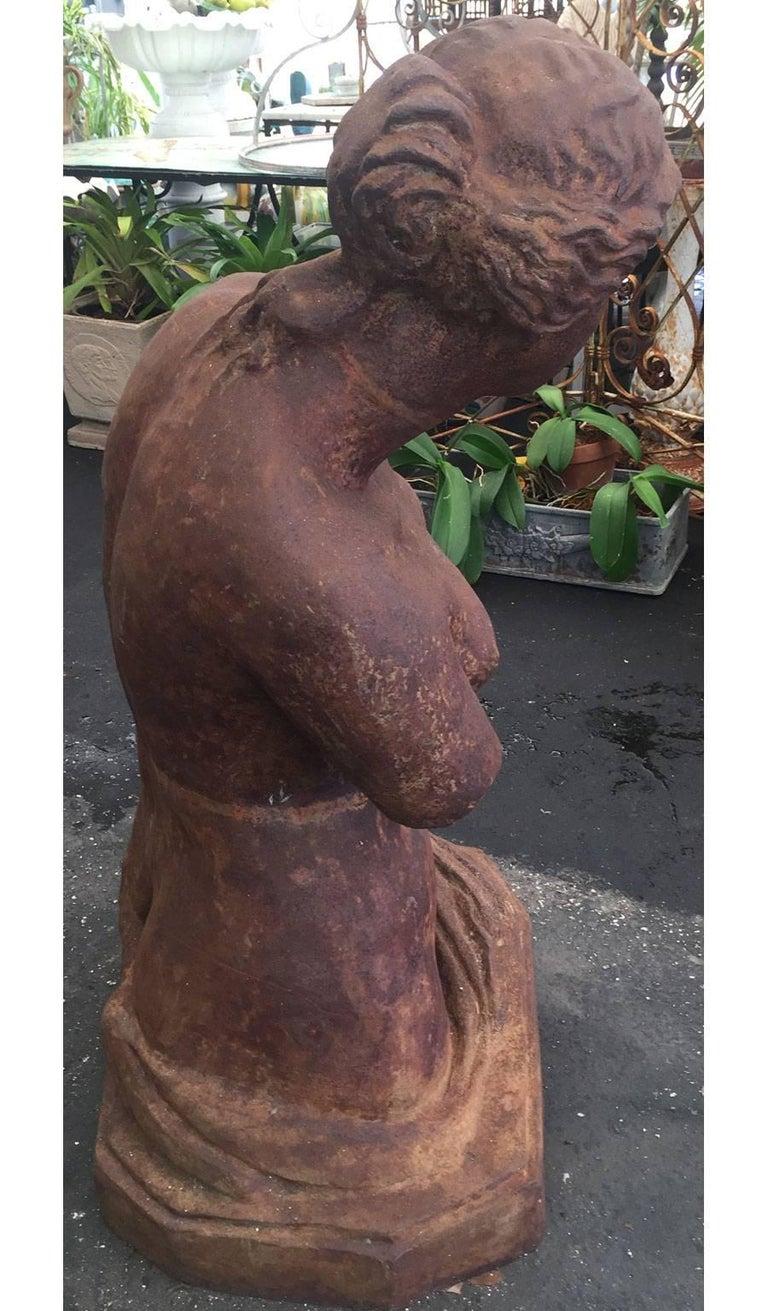 Monumental Cast Iron Bust of Venus de Milo In Excellent Condition For Sale In West Palm Beach, FL