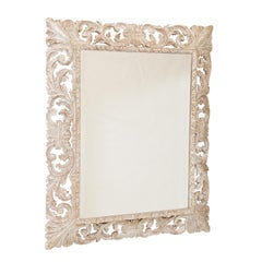 19th Century Pierced Italian Foliate Mirror
