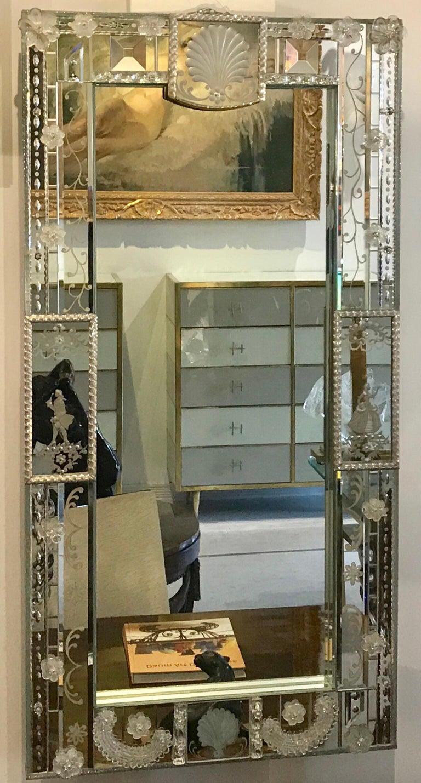 Mid-Century Modern Stunning  Mid-Century Venetian Mirror For Sale