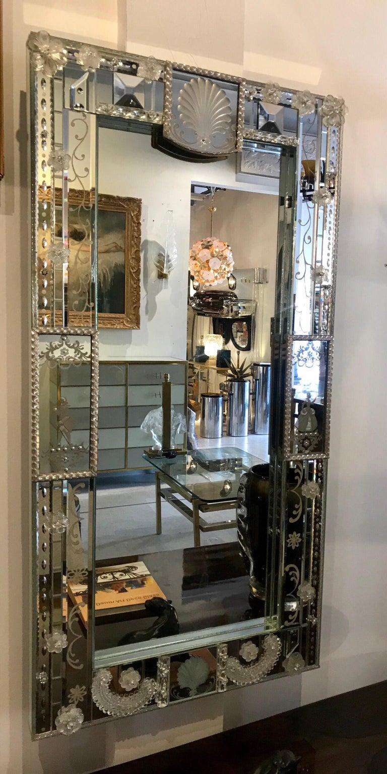 20th Century Stunning  Mid-Century Venetian Mirror For Sale