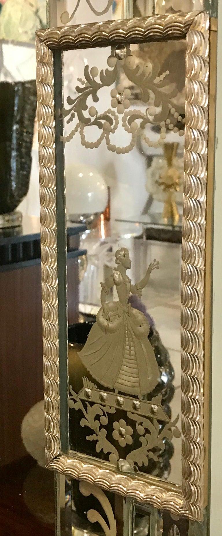 Stunning  Mid-Century Venetian Mirror For Sale 1