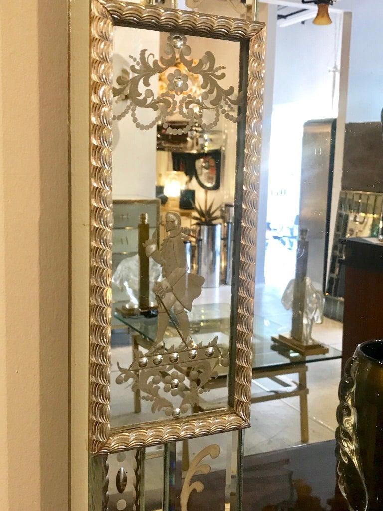 Stunning  Mid-Century Venetian Mirror For Sale 2