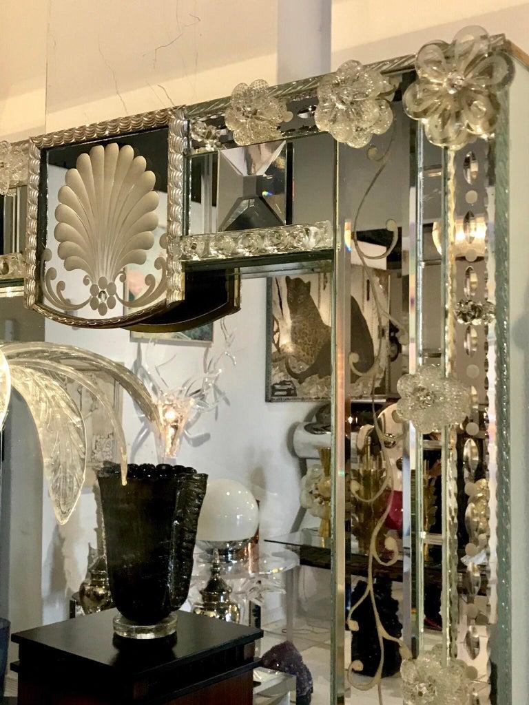 Stunning  Mid-Century Venetian Mirror For Sale 5