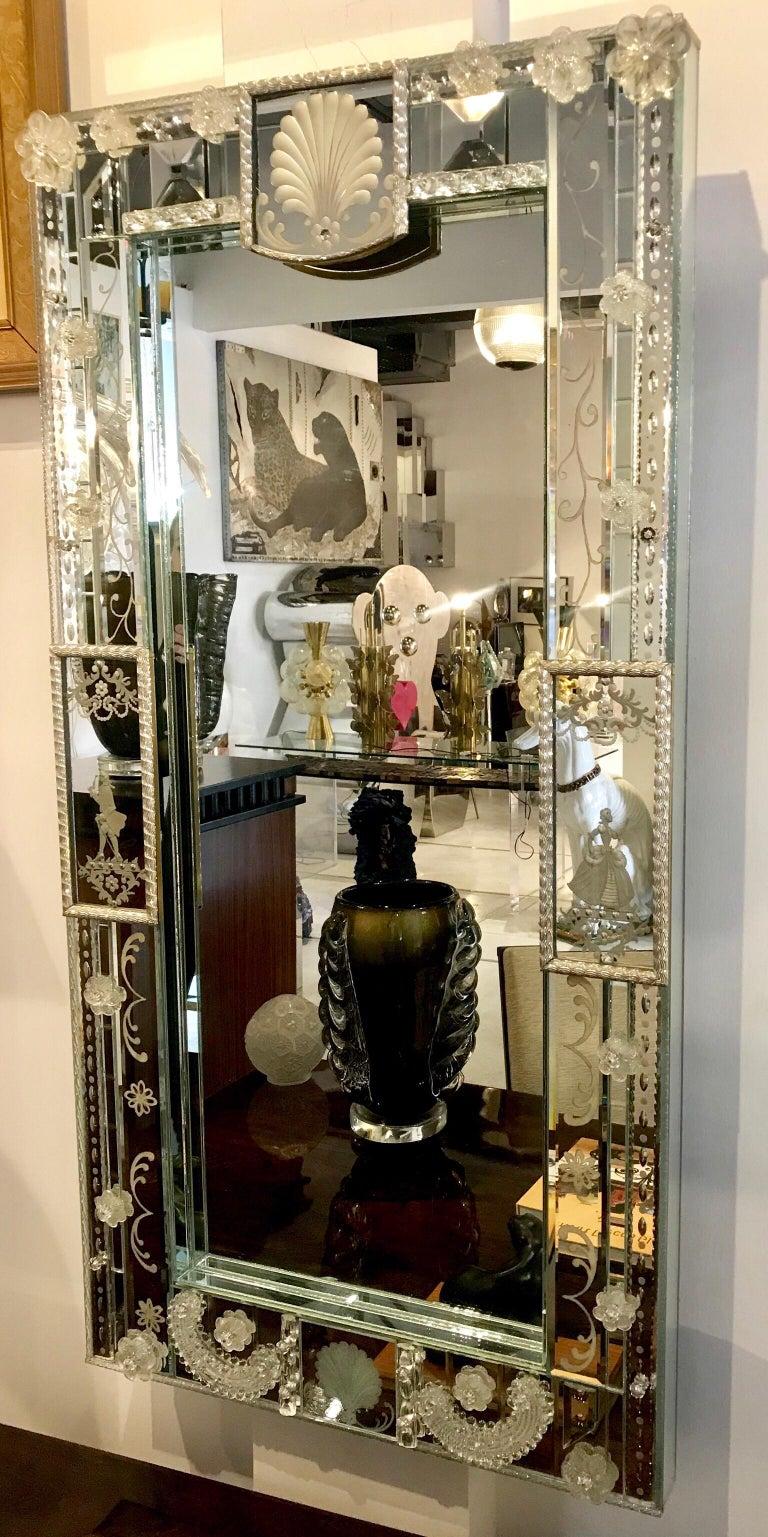Stunning  Mid-Century Venetian Mirror For Sale 8