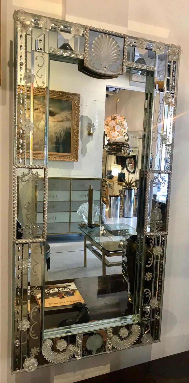 Stunning  Mid-Century Venetian Mirror For Sale 11