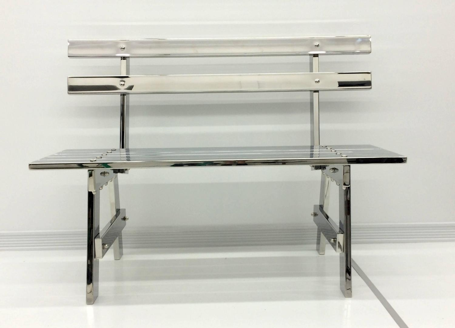 Sculptural Modern Stainless Steel Park Bench For Sale At 1stdibs