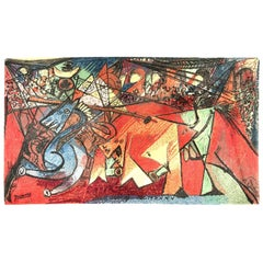 "Pablo Picasso's ""Running of the Bulls"" Carpet by Ege Art Rug"