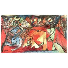 """Pablo Picasso's """"Running of the Bulls"""" Carpet by Ege Art Rug"""