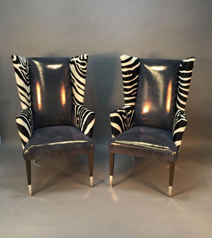 This Is An Amazing Pair Of Wingback Chairs By Sally Sirkin Lewis For J Robert