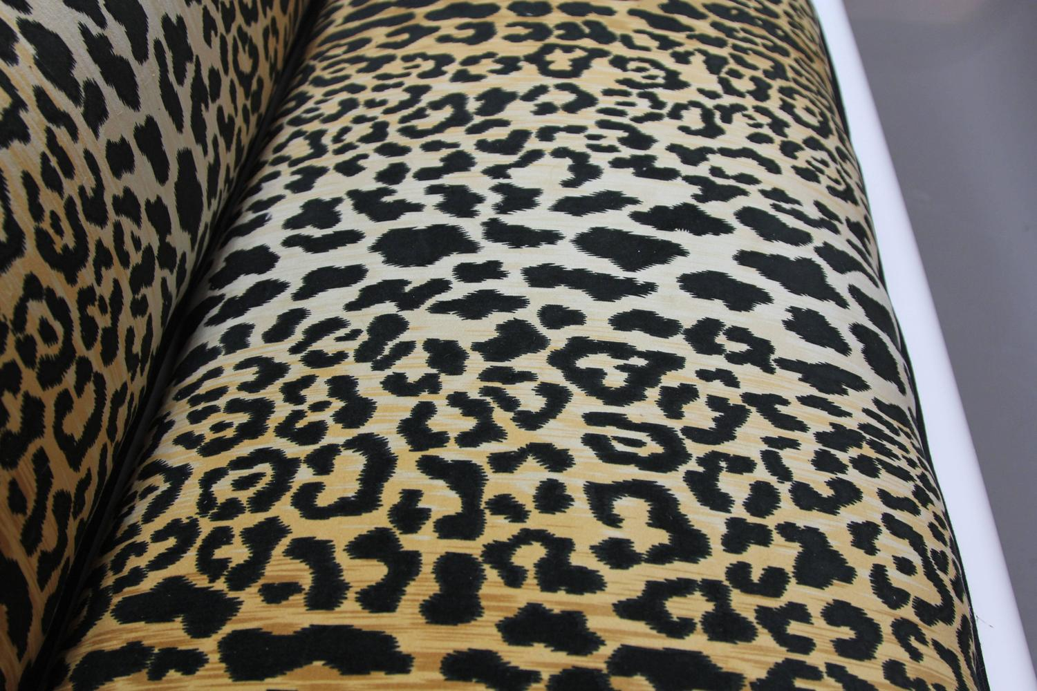 Newly Laquered And Upholstered Empire Style Sofa In Leopard Print At 1stdibs