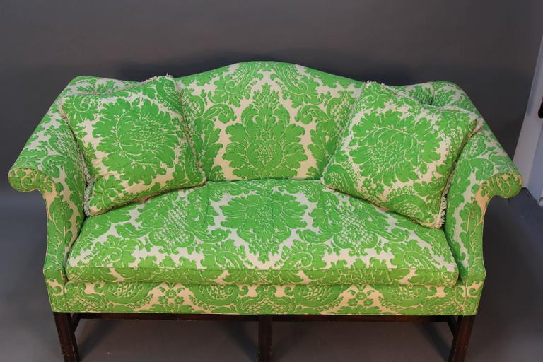 Vintage sofa with custom printed fabric. Very comfortable, iconic 1970s style.