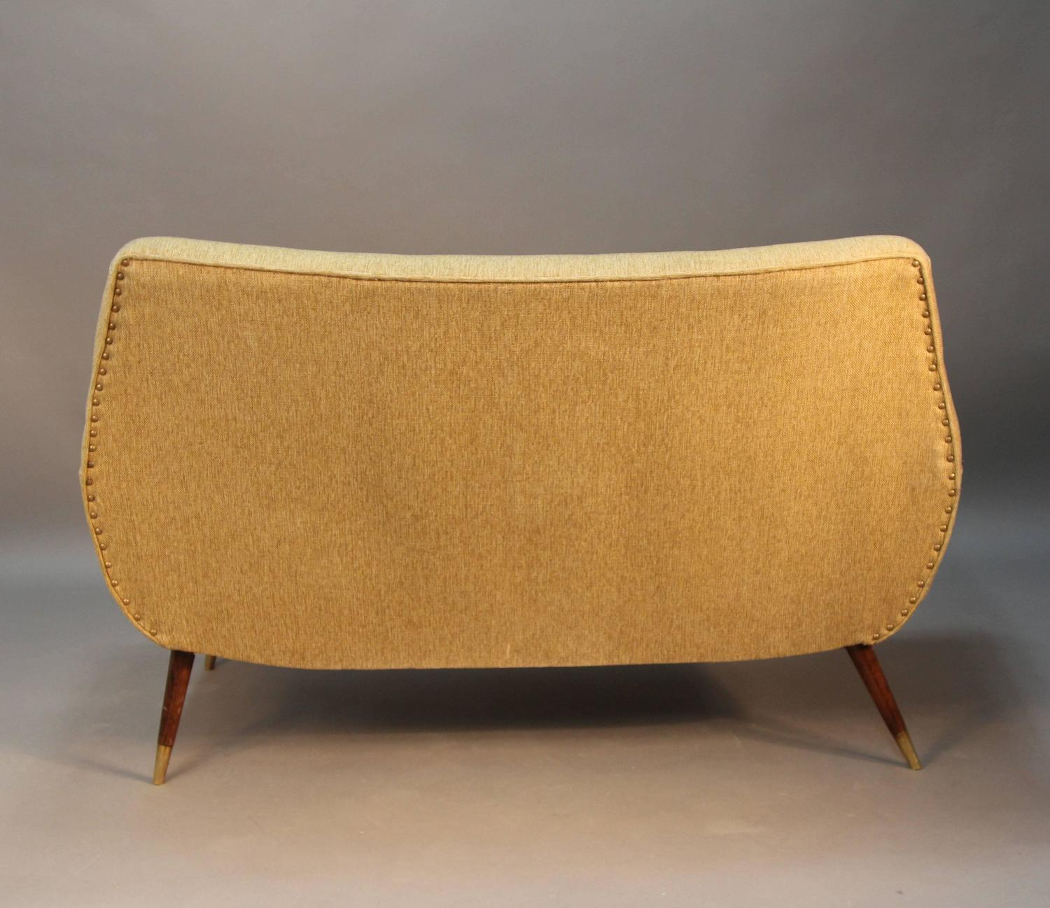 Mid Century Modern Loveseat : Mid-Century Modern Upholstered Loveseat For Sale at 1stdibs