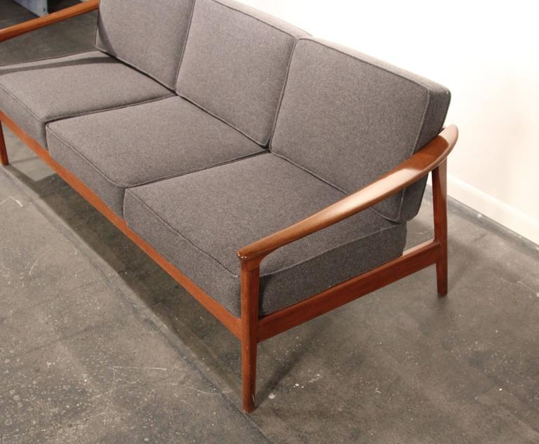 Mid-Century Modern Folke Ohlsson For Dux Solid Teak Sofa