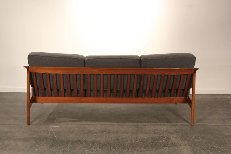 Swedish Folke Ohlsson For Dux Solid Teak Sofa