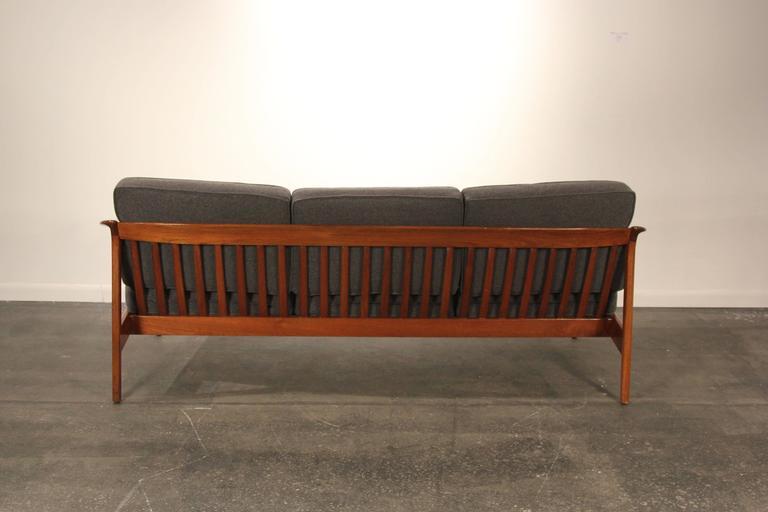 Mid-20th Century Folke Ohlsson For Dux Solid Teak Sofa