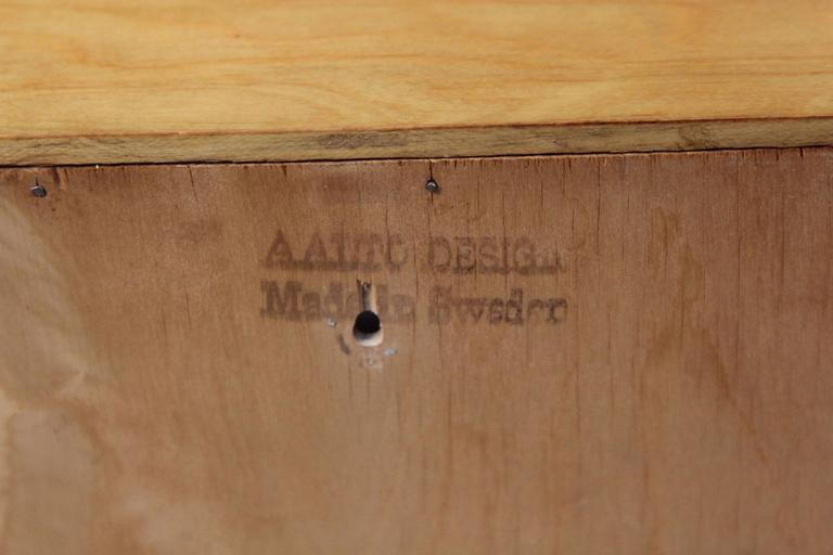 Scandinavian Alvar Aalto Wall Display Case For Sale