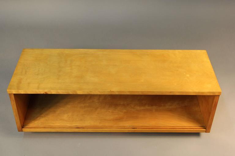 Birch Alvar Aalto Wall Display Case For Sale