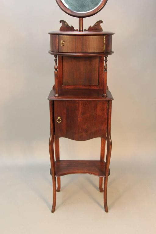 Victorian Mahogany Shaving Station with Movable Mirror 5