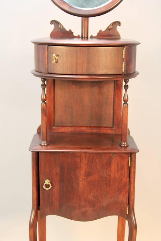 Victorian Mahogany Shaving Station with Movable Mirror 6