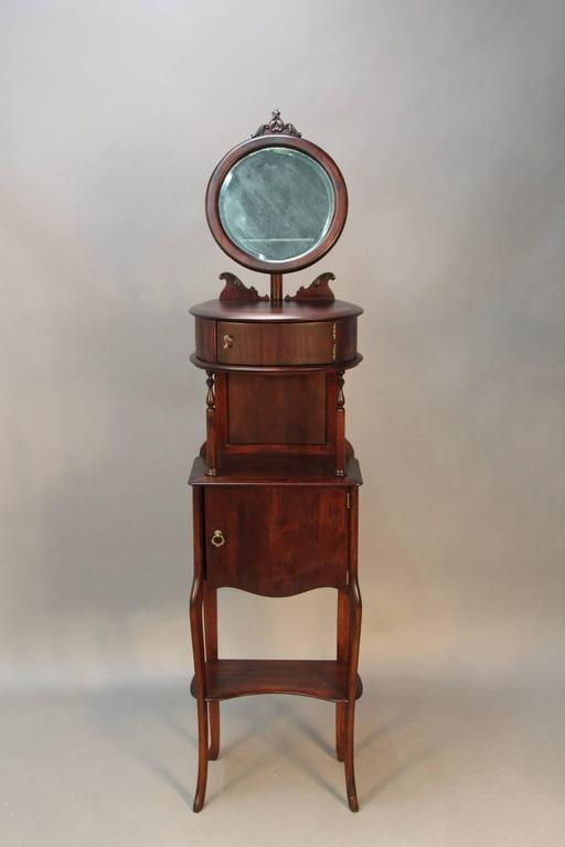 Victorian Mahogany Shaving Station with Movable Mirror 2