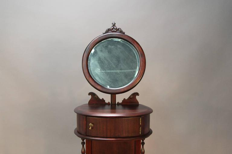 Victorian Mahogany Shaving Station with Movable Mirror 8