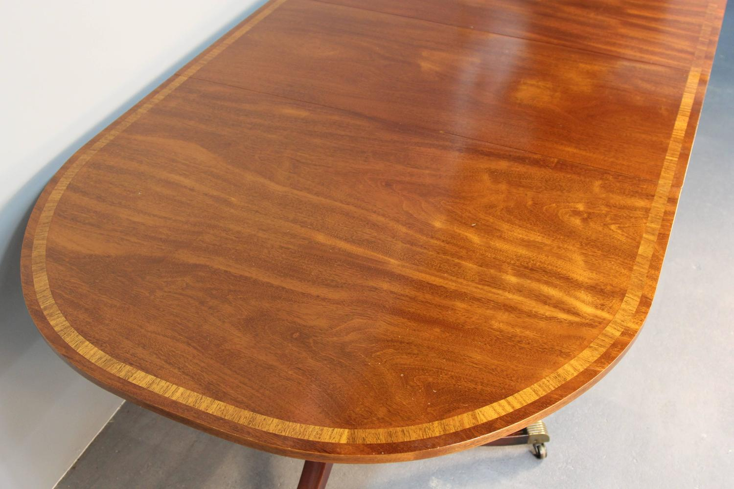 double pedestal regency mahogany dining table for sale at 1stdibs