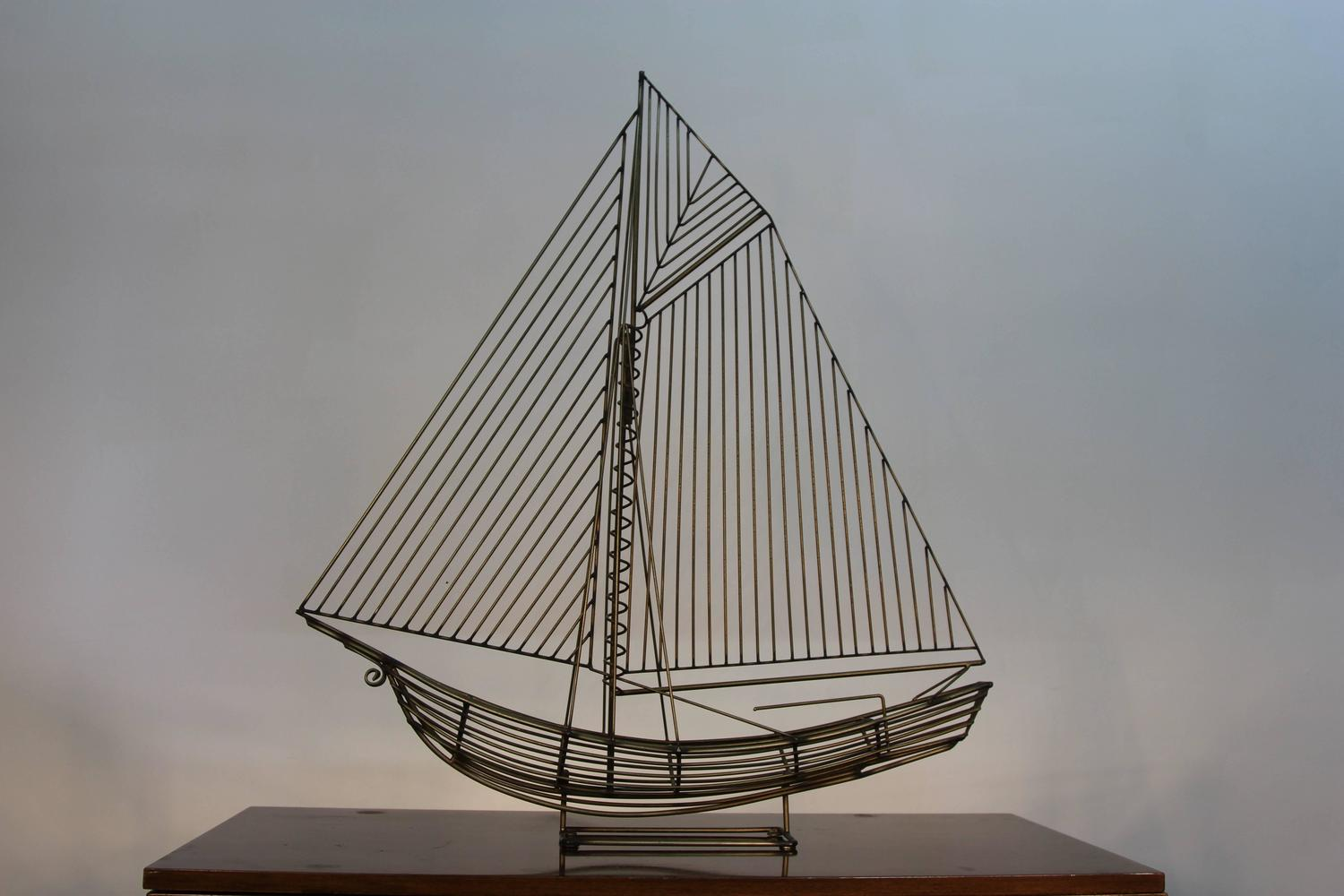 Jere Wire Boat Sculpture For Sale At 1stdibs Watermelon Wallpaper Rainbow Find Free HD for Desktop [freshlhys.tk]