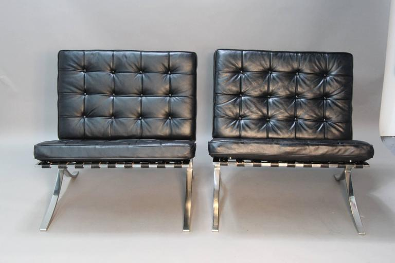 vintage barcelona chairs by mies van der rohe for sale at 1stdibs