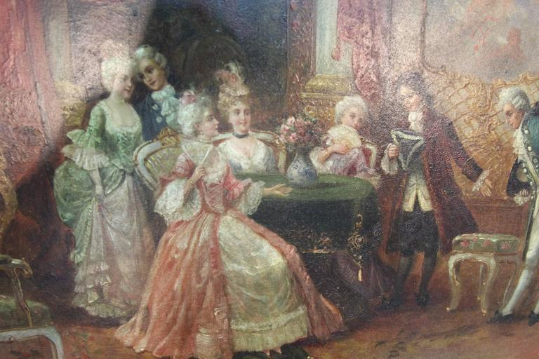 Antique French Royal Court Painting For Sale At 1stdibs