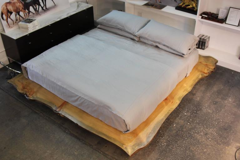 Live Edge Custom Platform King Bed 6