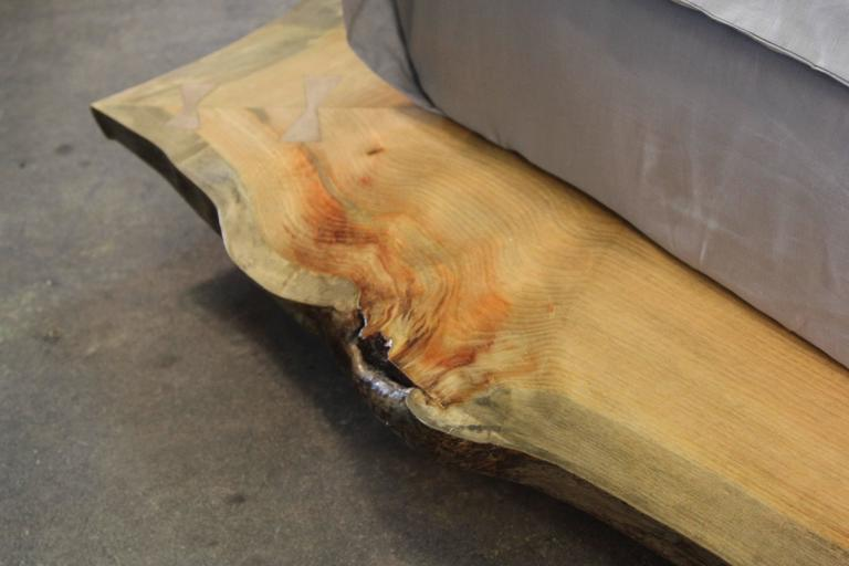 Live Edge Custom Platform King Bed 9
