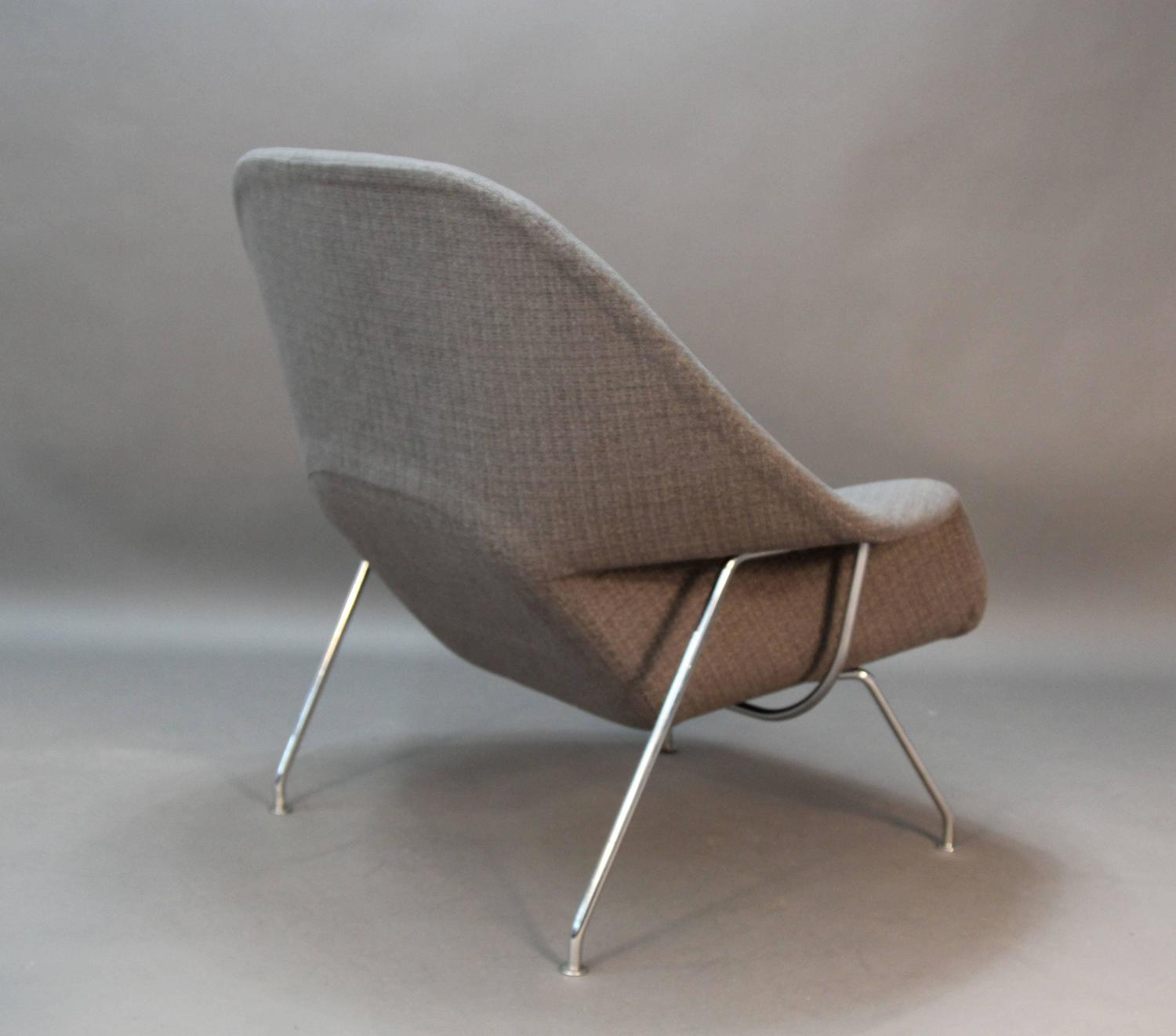 eero saarinen for knoll womb chair and ottoman newly upholstered for